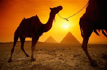 Египет закат в пустыне